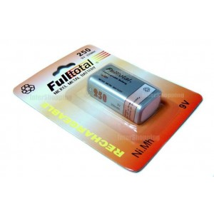BATERIA RECARGABLE  9V   FULL TOTAL  250MAH