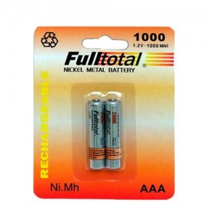 PILA RECARGABLE FULL TOTAL 1000 MAH  AAA