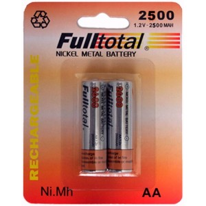 PILA RECARGABLE FULL TOTAL  2500 AA NIMH