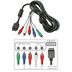CABLE COMPONENTE SJ-9951 PS2 PS3  RCA YCBPBCRPR BLISTER