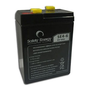 BATERIA 6V 4AH ELECTROLITO ABSORVIDO SAFETY ENERGY