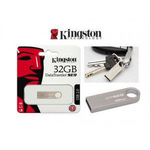 PEN DRIVE KINGSTON 32GB SE9 PLATA