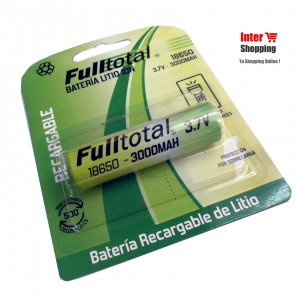 PILA 18650 FULL TOTAL LITIO ION 3.7 volts RECARGABLE 3000mah