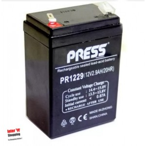 BATERIA GEL 12v 2.9Ah PRESS 20hr PR1229 RECARGABLE