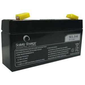 BATERIA 6v 1.3ah SE1.3-6 Safety Energy  Electrolito Absorbido