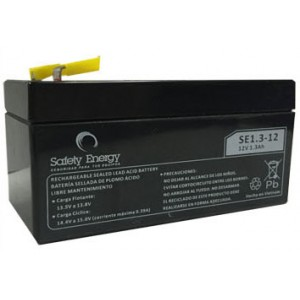 BATERIA ELECTROLITO ABS 12V. 1.3AH SAFETY ENERGY SE1.3-12