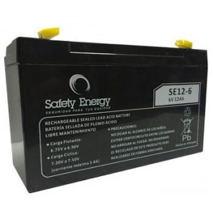 Bateria Gel 6v 12Ah Safety Energy electrolito absorbido SE12-6