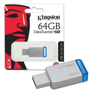 PENDRIVE KINGSTON 64GB DT50 USB 3.0 ORIGINAL