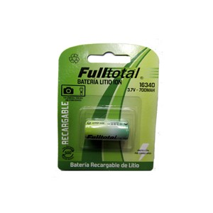 Pila cr123 litio ion recargable full total 3.6  volts